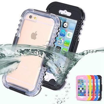 Waterproof underwater diving Protective Phone Cover Case For iPhone6 capinha capas para de celular For iPhone 6 4.7 Inch cover