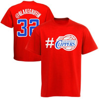 Blake Griffin Los Angeles Clippers Youth Twitter T-Shirt - Red - http://www.shareasale.com/m-pr.cfm?merchantID=7124&userID=1042934&productID=555884266 / Los Angeles Clippers