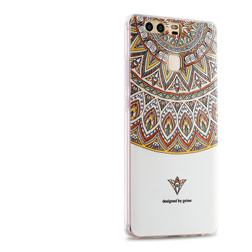 High End Gview Cute classic totem soft silicon thin Shell Case cover For Huawei Honor V8