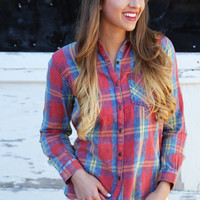 Weekend Fun Plaid Top