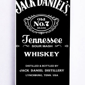 iPhone 5 Case - Rubber (TPU) Cover with Jack Daniels Logo Rubber Case Design