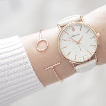 Rose Gold Bangle, Rose Gold Bracelet, Rose Gold Cuff, Rose Gold Cuff Bracelet, Minimal Bangle, Rose Gold Jewelry, Skinny Bracelet