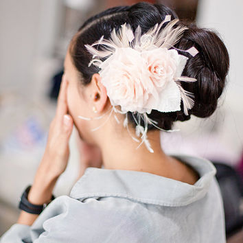 Everything Rosy - Bridal flower hair piece