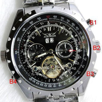 Brand New Steampunk Clock Stainless Mens Business Dress Wristwatch Mechanical Male Wrist Casual Watch Alternative Measures - Brides & Bridesmaids - Wedding, Bridal, Prom, Formal Gown