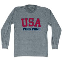 USA Ping Pong Long Sleeve T-shirt