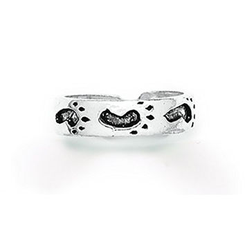 Tomas Jewelry Sterling Silver Footprints Toe Ring