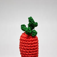 Carrot Toy, Carrot Crochet Toy, Carrot Stuffed Toy, Small Carrot Toy