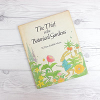Vintage 1970s Illustrated Children's Book | The Thief in the Botanical Gardens by Diane Redfield Massie | Hardcover Book