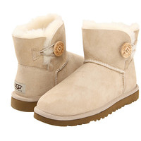 UGG Mini Bailey Button Raspberry Sorbet Twinface - Zappos.com Free Shipping BOTH Ways