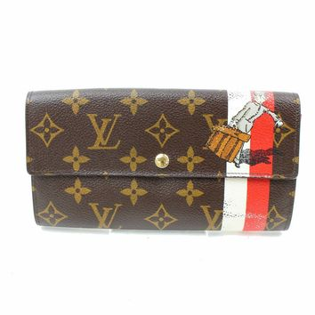 Authentic Louis Vuitton Long Wallet Sarah M60034 Browns Porter 187015