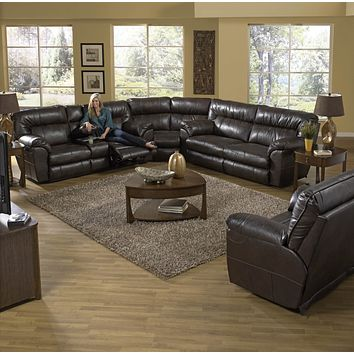 64041 Nolan Godiva 3 Piece Sectional with POWER Sofa
