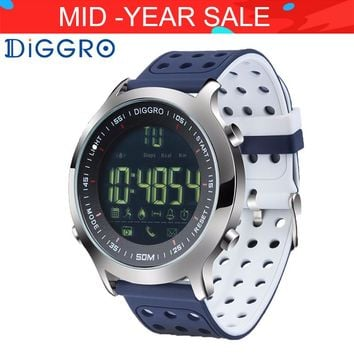Diggro EX18 Smart Watch 5ATM Professional Waterproof Bluetooth Pedometer Calorie Reminder Fitness Tracker For Android iOS