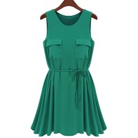 2-Ways Skater Dress with Front Pocket
