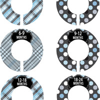 Custom Baby Closet Dividers Boy Blue Grey Black Nursery Closet Dividers Baby Shower Gift Baby Clothes Organizers Baby Nursery Organizer