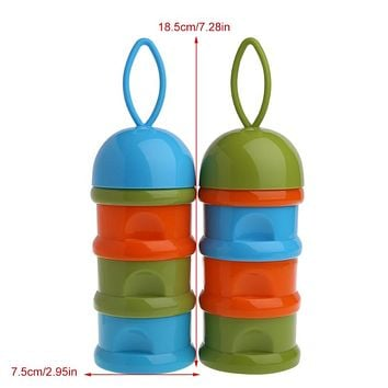 1pc 3Layer Baby Infant Food Milk Powder Bottle Box Dispenser Container Storage Box Color Random delivery