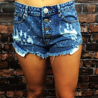 STRAWBERRY WINE DENIM SHORTS