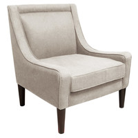 Scarlett Swoop-Arm Chair, Talc, Accent & Occasional Chairs