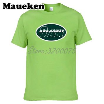 Men Broadway Sam Darnold 3 New York T-shirt Clothes T Shirt Men's tshirt for Jets fans gift tee W18042916