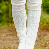 Snuggle Up Boot Socks-Ivory