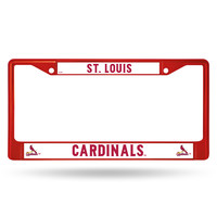 St. Louis Cardinals Metal License Plate Frame - Red