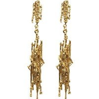 Gold-Plated Nest Structure Statement Drop Earrings