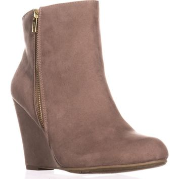 Report Russi Closed Toe Ankle Platform Boots, Taupe, 7.5 US
