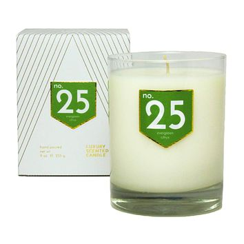No. 25 Evergreen Citrus Scented Soy Candle