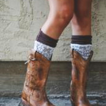 Lace Overlay Boot Cuffs