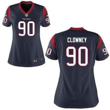 CUPUPS Jadeveon Clowney Houston Texans Nike Womens 2014 NFL Draft #1 Pick Game Jersey ¨C Navy
