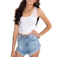 Marilyn Crop Top - White