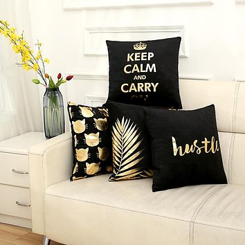 Bronzing cushion cover cushion decorative cushions home decor throw pillows chair almofadas para sofa pillowcase cover cojines