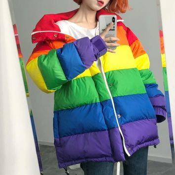 Rainbow Down Jacket