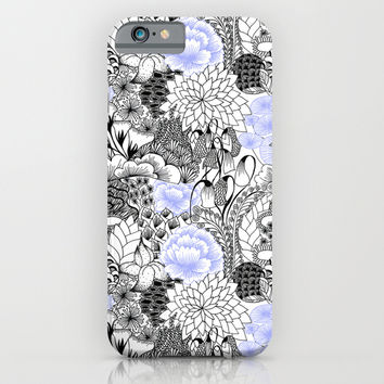 Periwinkle Peony iPhone & iPod Case by Goodnightgracie