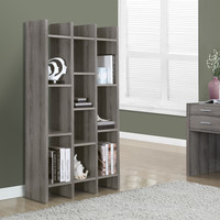 "Dark Taupe Reclaimed-Look 60"" Horizontal/Vertical Etagere"
