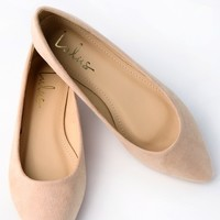 Holly Nude Suede Flats
