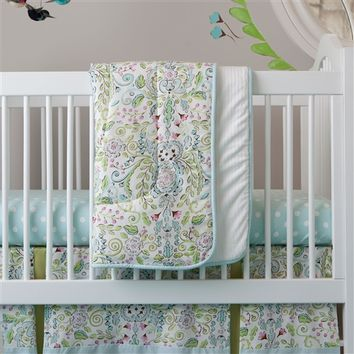 Bebe Jardin Three-piece Crib Bedding Set