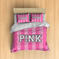 Victoria Secret PINK Bedding - VS Like Duvet Cover, PINK Duvet Set, Pink Bedding Set, Cute Girly Bedding, Light Pink, Hot Pink, vs bag like