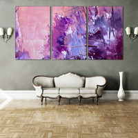 Oil Paints Interior Design - Painting Abstract Wall Art, Colorful Abstraction Art Poster Print for Home or Office Decoration