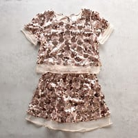 set the tone sequin disc separates- rose gold