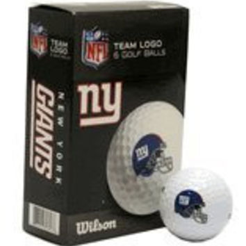 New York Giants Wilson White Golf Balls Pack of 6