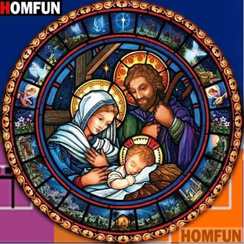 5D Diamond Painting Birth of Jesus Circle Kit