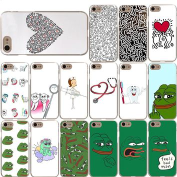 Keith Haring Nurse Dentist PEPE The Frog Case for iPhone X 8 7 6S 6 Plus 5S 5 SE