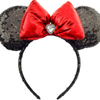 Minnie Mouse Ears Sequin Disney Ears Red Sequin Minnie Mouse Bow Sequin Mickey Mouse Ears Mickey Ears Sequin Minnie Ears Black Minnie Bow
