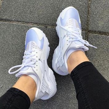 NIKE Huarache Fashion Women Men Classic Casual Shoes Sports Shoes White B