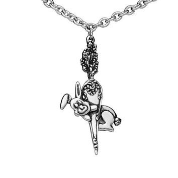 Silver Spoon Jewelry Bunny Pendant Necklace - 1 Left