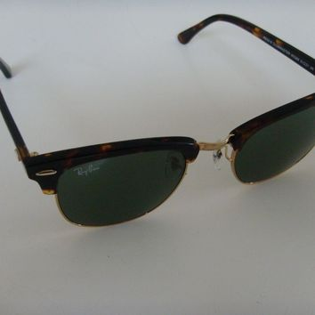 Cheap Ray Ban Clubmaster Sunglasses 3016 W0366 tortoise with gold and Green Lens 51 mm outlet