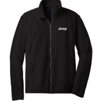 All Things Jeep - Jeep Embroidered Fleece Full Zip Jacket, Black