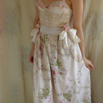 Bohemia Bustier Gown...wedding dress whimsical boho formal bridesmaid prom marie antoinette rococo free people country chic vintage inspired