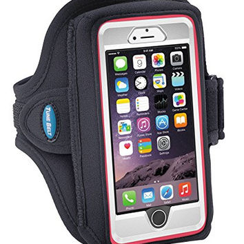Armband for iPhone 6, 6s with OtterBox & Galaxy S5/S6/S7 with LifeProof Case or OtterBox Defender - for Running & Workouts - for Men & Women - Sweat-Resistant Design [Black]