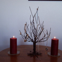 Jewelry Tree Made From Reclaimed Rustic Barb Wire